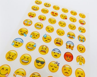 Emoji Stickers // Planner Stickers • Bullet Journal Stickers • Kawaii Stationery • Scrapbooking • Diary Sticker • Cute • Organisation