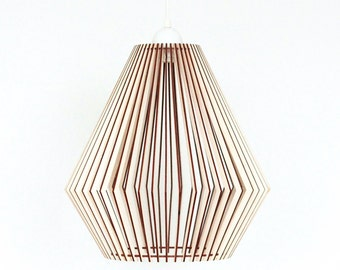 Wood Lamp / Wooden Lamp Shade / Hanging Lamp / Pendant Light / Decorative  Ceiling Lamp