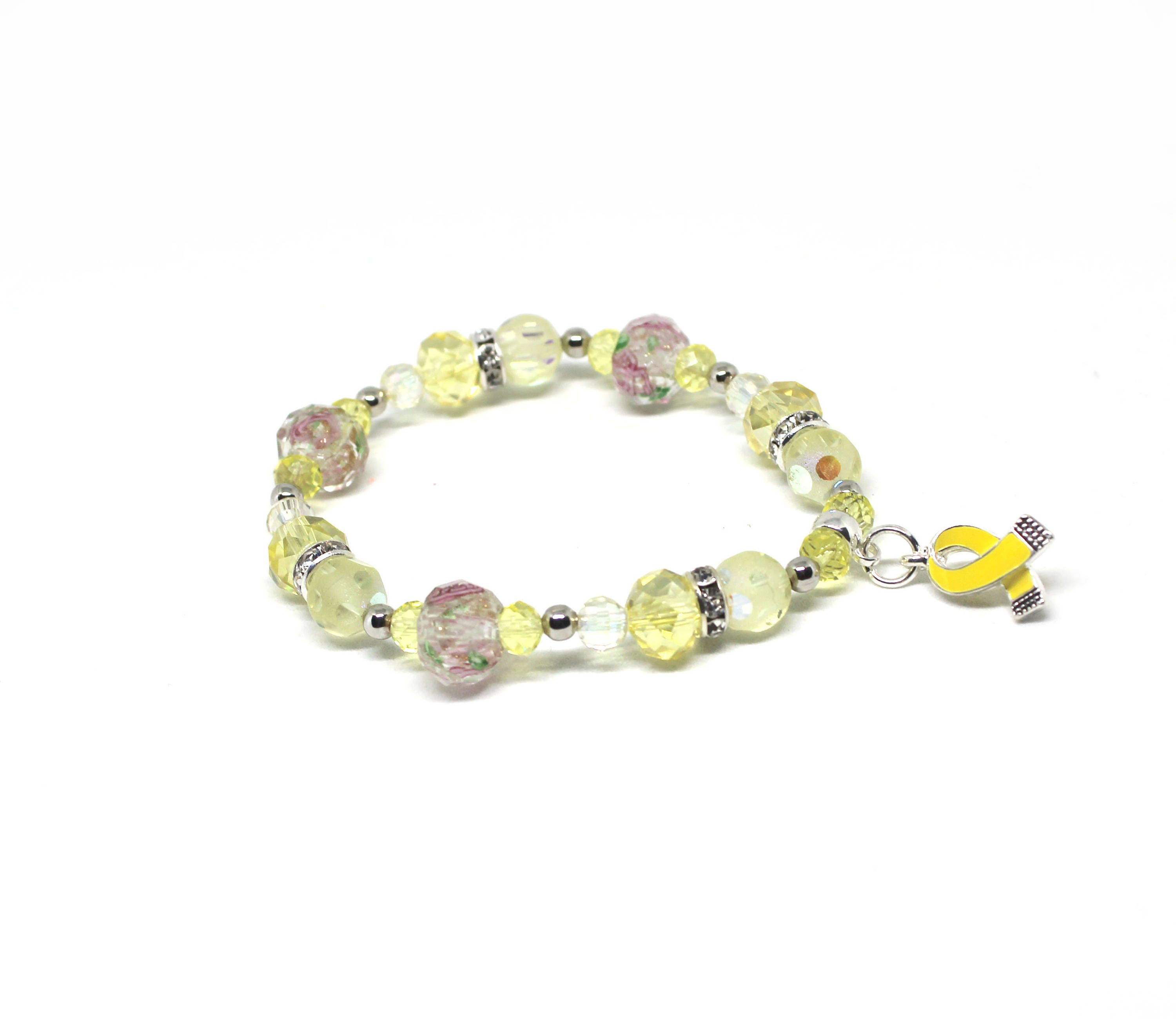 il bracelet awareness memorial endometriosis bladder adenosarcoma yellow ribbon listing cancer osteosarcoma bifida charm fullxfull liver spina