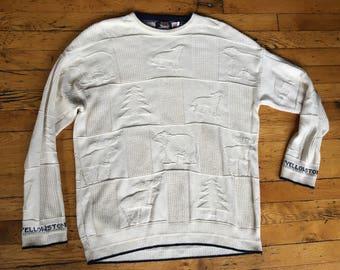 Vintage Yellowstone National Park sweater USA large