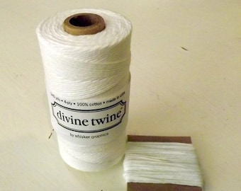 String White Cotton Divine Twine 10 Yards