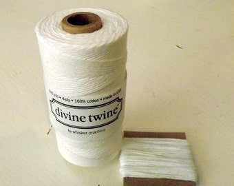 String White Cotton Divine Twine 10 Yards