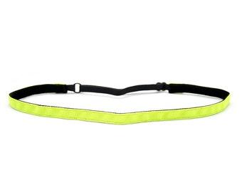 Adjustable Non-Slip Headband Thin Fluorescent Yellow