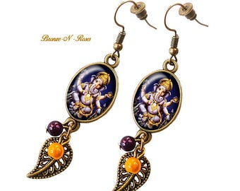 "Hindu God Ganesh India Indonesia hindi God ""Ganesh"" earrings"