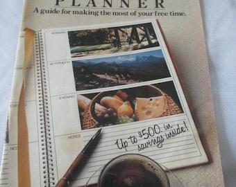 """Vintage 1984 """"Sanka - Free Time Planner - advertising booklet of Sanka Coffee -  from Colletors estate -  Estate find!"""