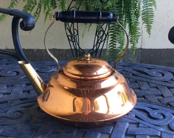 Vintage Copper Teapot With Black Wood Handle, Coppercraft Guild, French  Country, Cottage,
