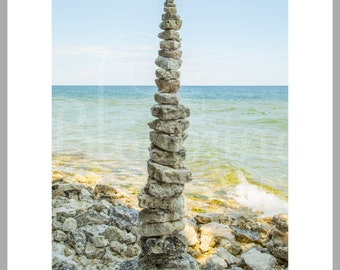 "8x10 Matted Print of ""6 Foot Rock Cairn"""