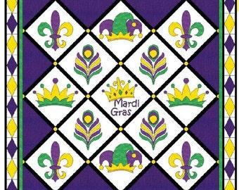 Mardi Gras quilt pattern