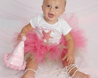 Custom Tutu Baby Set Personalized for Birthdays and Photo Sessions