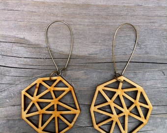 Wooden Ani Earrings