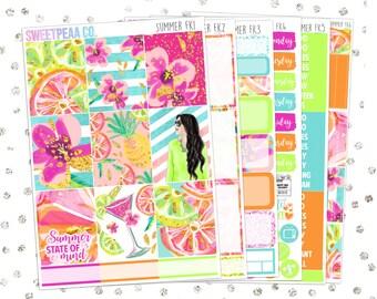Summer Full Kit  // Matte Planner Stickers