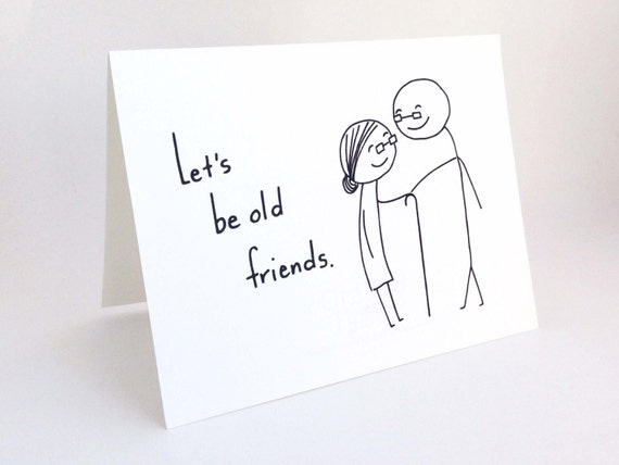 Funny love card for girlfriend romantic birthday card for funny love card for girlfriend romantic birthday card for him best friend cute valentine card for boyfriend lets be old friends bookmarktalkfo Images