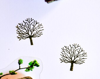 Bare Tree Rubber Stamp