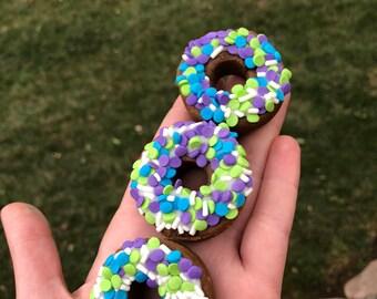 Mini Sprinkled Donuts