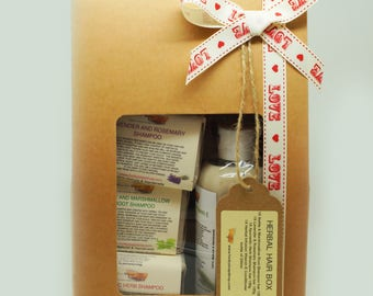 1x Funky Soap Love Edition Herbal Hair Box Includes 3x Shampoo bars & 1x Natural Conditioner
