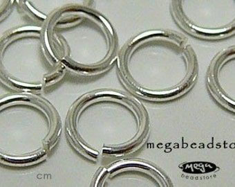 100 pcs 6mm Sterling Silver Jump Rings Open 21 gauge F29