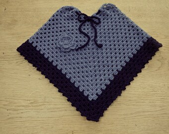 Crochet blue Poncho