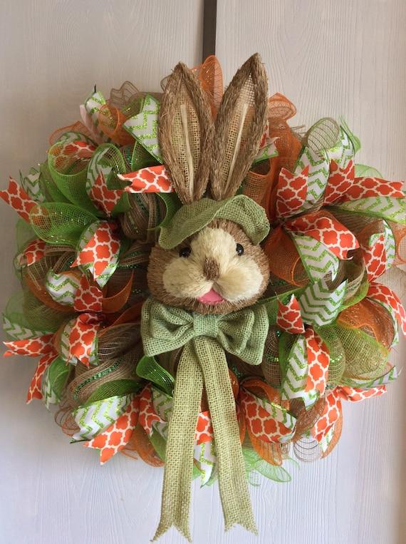 Easter Wreath Easter Burlap Wreaths-Easter Bunny
