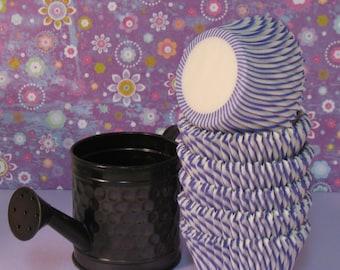 Purple Carnival Striped Cupcake Liners  (45 Qty)
