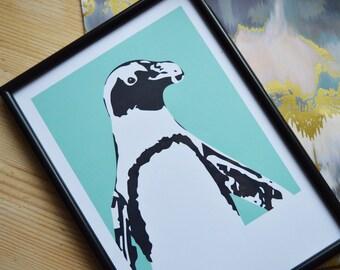 A4 Penguin Print