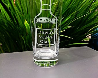 Engraved Vodka Highball Glass - Personalised
