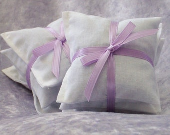 Lavender Dryer Sachets  - 2 Sets of 3 - Eco Friendly Reusable Dryer Bags - Lavendar Laundry and Cleaning