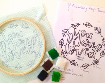 You are Loved, Embroidery Kit