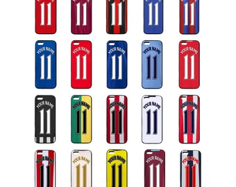 Personalised English Football team iPhone Cases 4 5 5c 5s 6 6+ Cover iPod 4 & 5 Any Name and Number