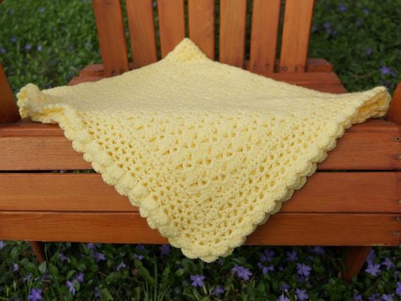 Häkeln Sie Decke häkeln Sie Babydecke Pastell gelb Afghan