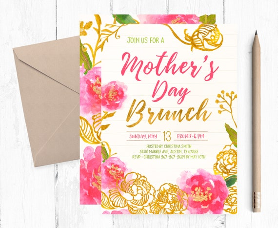 mother s day brunch invitations mother s day brunch