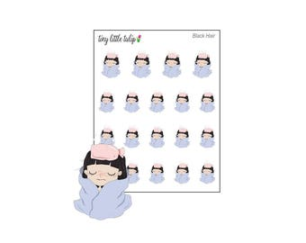 Planner Stickers Doodle Girl Sick Girl/Sick Day Stickers