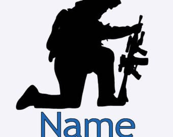 Soldier decal, military vinyl decal, car decal, support t troop decal, personalze decal, soldier car decal,militar family decal, military