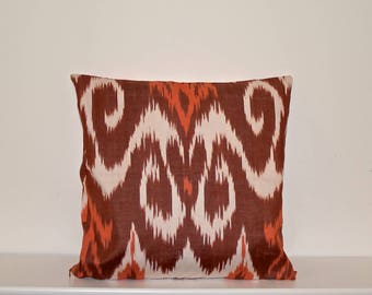 Handwoven Ikat cushion