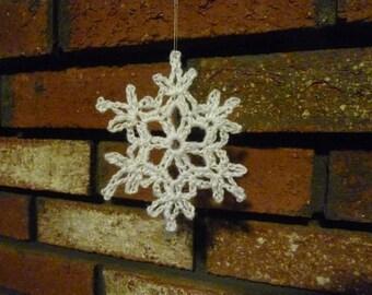 Crochet Snow Flake Ornament