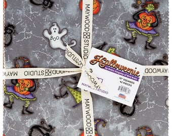 "Halloweenie 10"" Squares by Robin Kingsley of Birdbrain Designs for Maywood Studio"