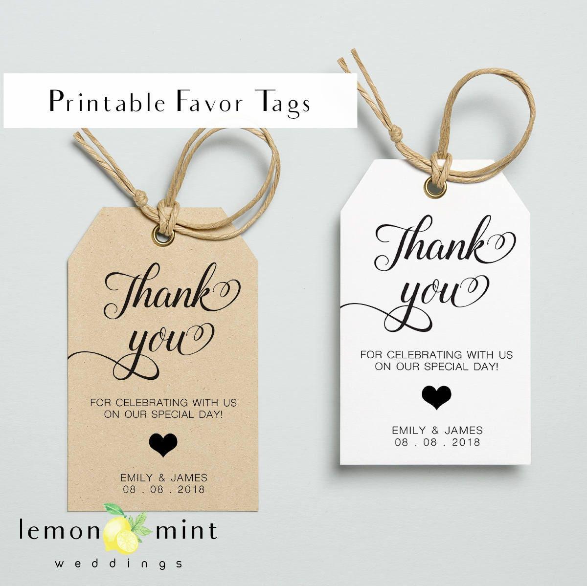 Free Printable Wedding Gift Tags