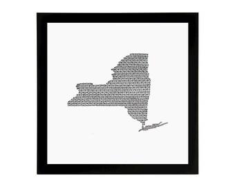 New York State Love Art Print