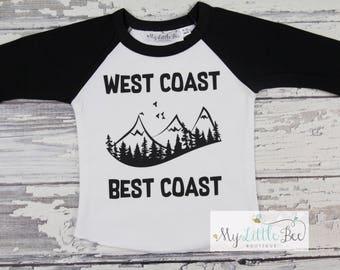 West coast best coast baseball tee-west coast tee-west is best tee-cool tee