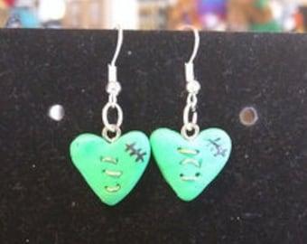 Zombie Heart Earrings