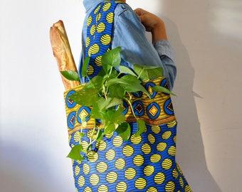 Shopper bag handmade - eco bag - grocery bag - tote bag - cotton bag