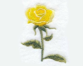 Yellow Rose Tea Towel | Kitchen Towel | Embroidered Kitchen Towel | Hand Towel | Personalized Kitchen Gifts | Embroidered Kitchen Towel