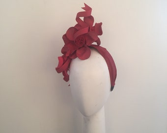 Fascinator , headband Fascinator , races Fascinator , races hat, wedding Fascinator , pink, ascot, Melbourne Cup