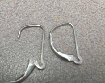 Empty Sterling Silver Leverback Earring Set-NO DANGLE/BOBBLE.