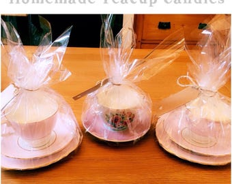 Scented Soy Wax Tea Cup Candles
