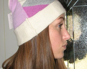 Cashmere Slouchy Hat - Repurposed Cashmere