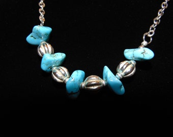 Necklace -- Turquoise & Silver