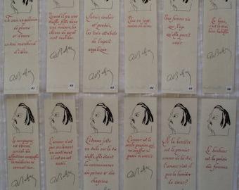 Bookmarks with texts of Honoré de Balzac