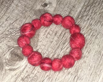 Needle & Wet Felted Wool Bracelet