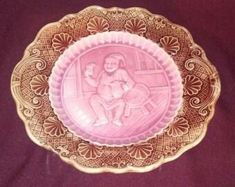 Vintage Umarked Ornate Tavern Plate