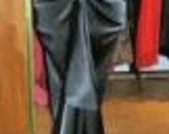Baylis & Knight Black Satin VIRNA Bustle Fishtail Skirt Dita Burlesque Pin Up 50's Classic